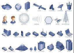 design elements telecommunication networkstelecom diagram symbols