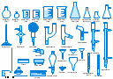 Labware, water faucet, vacuum adapter, thermometer, stemmed funnel, stemless funnel, steam nozzle, steam bath, short condenser, condenser, Liebig condenser, water-cooled, separatory funnel, separation funnel, separating funnel, sep funnel, oil bath, long condenser, condenser, Liebig condenser, water-cooled, hot plate, heating mantle, isomantle, gas nozzle, filter paper, distillation adapter, boiling flask, beaker, Griffin beaker, Vigreux column, distillation column, fractionating column, fractionation column, Hirsch funnel, Erlenmeyer flask, conical flask, Erlenmeyer flask, Claisen adapter, Büchner flask, vacuum flask, filter flask, side-arm flask, Kitasato flask, suction flask, Bunsen burner, Buchner funnel,