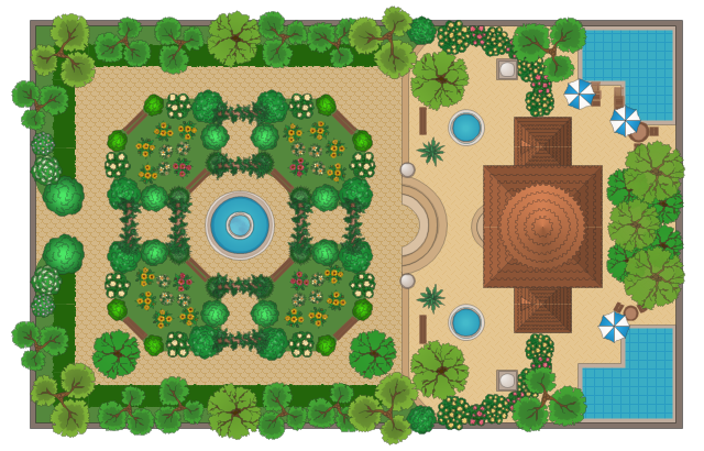 Bubble Diagrams In Landscape Design With Conceptdraw Diagram