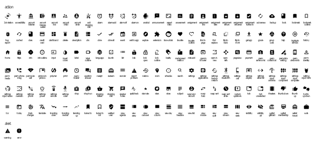 Design elements - Android system icons (action, alert) | Android ...