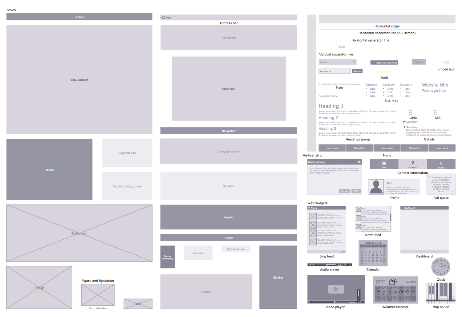 cs odessa announces website wireframe solution for conceptdraw pro rh conceptdraw com Sample Wireframe Diagram Website Wireframe