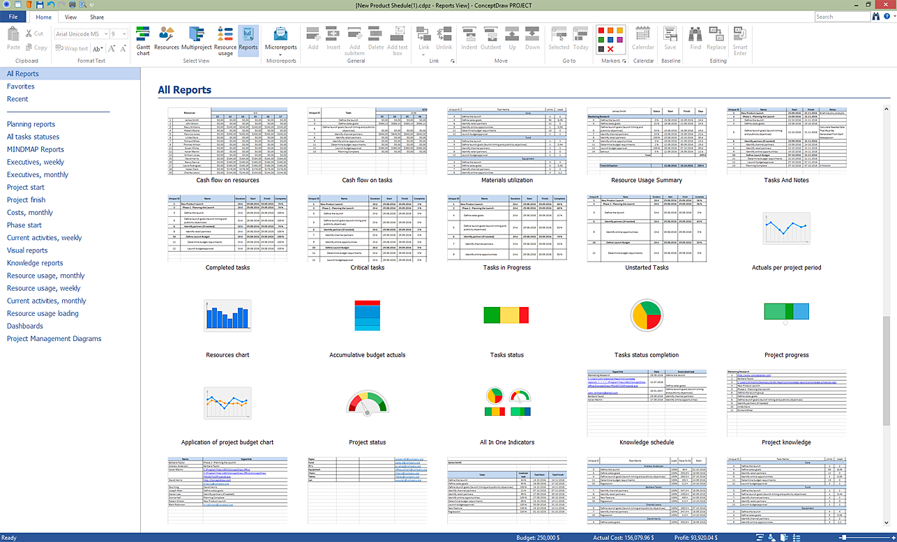 ConceptDraw PROJECT v8