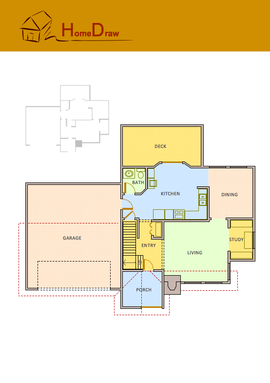 Floor plans solution for Drawing house floor plans