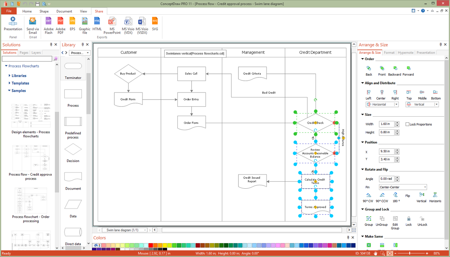 Process Flowcharts Solution for Microsoft Windows