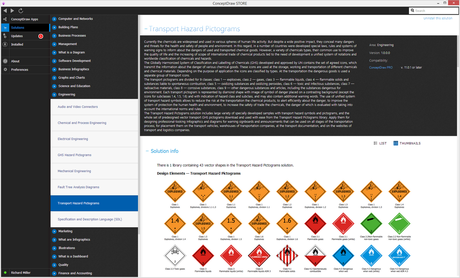 Transport Hazard Pictograms solution - Start Using