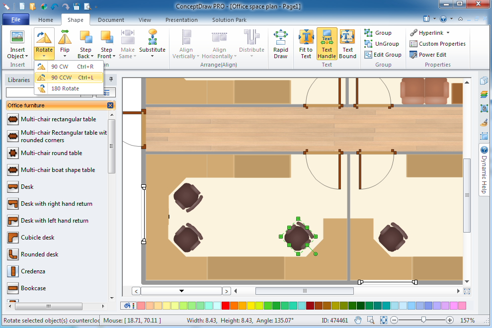 Office plan software for Office layout software